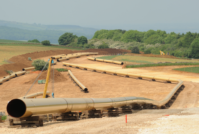 Gas Pipeline Being Laid Out