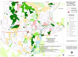 Town of Pepperell Open Space Map 2012