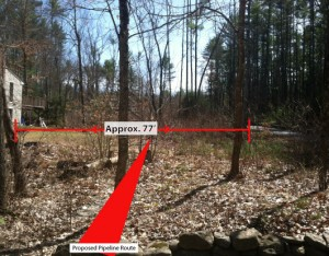 Bemis Road - The proposed Tennessee Gas Pipeline would run through these two neighbor's yards