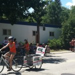 The riders in Pepperell's 4th of July parade