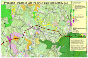 Ashby - Northeast Energy Direct Route - Environmental Impact Overlay