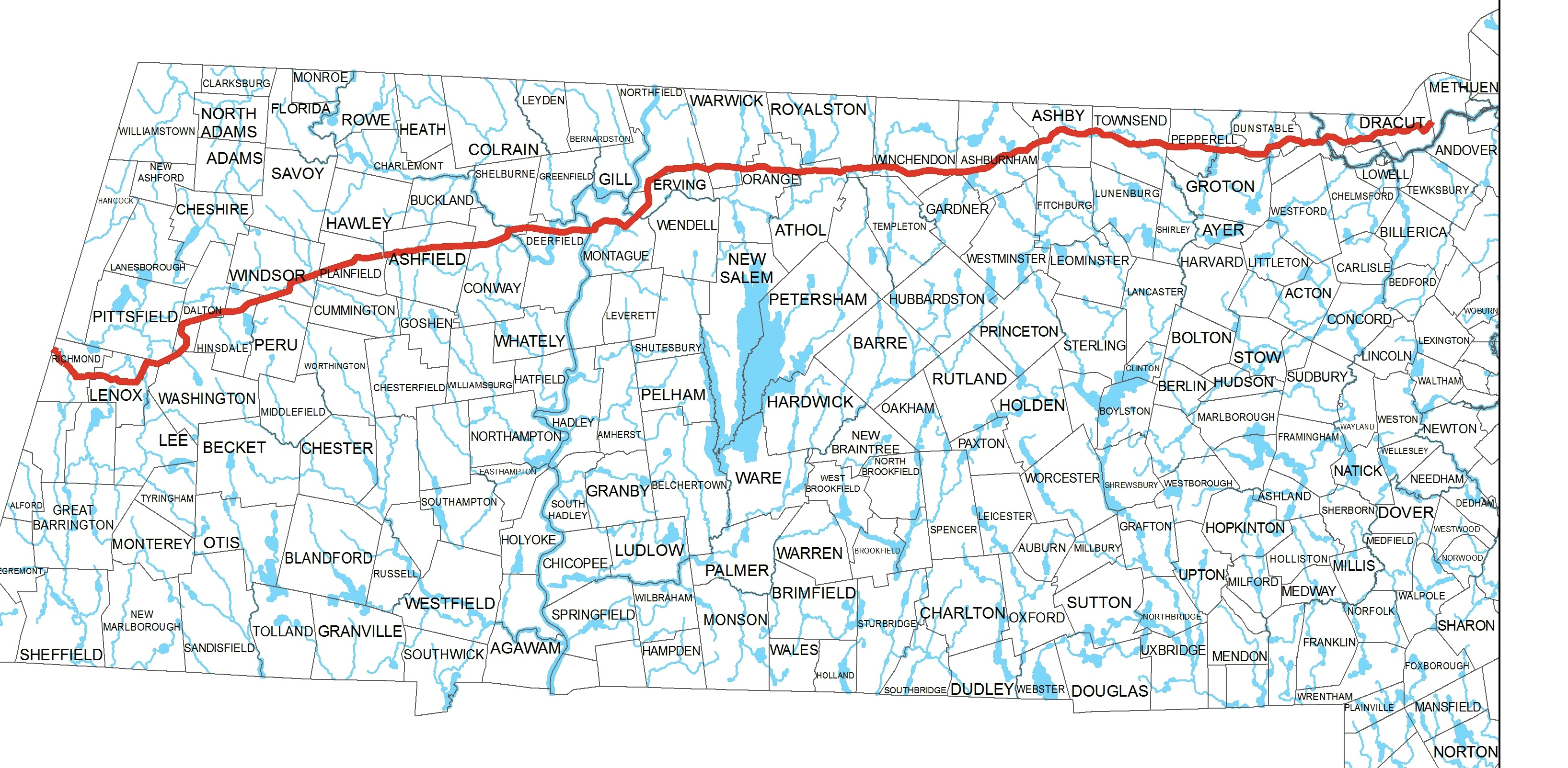 Maps Pipeline Routes Nashoba Conservation Trust - Tennessee waterways map